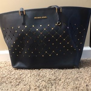 Blue and gold Michael Kors bag